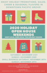 2020 Holiday Open House Weekend