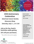 35th Anniversary Celebration American Cancer Society Discovery Shop